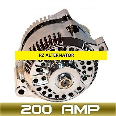 HIGH AMP ALTERNATOR Fits FORD MUSTANG CHROME 1-WIRE 1965-1996 200AMP