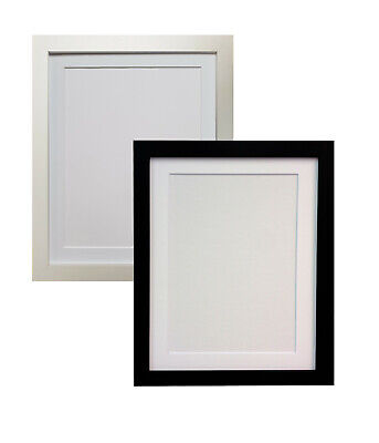 Black or White RIO Photo Picture Frames with Quality Black White or Ivory Mounts