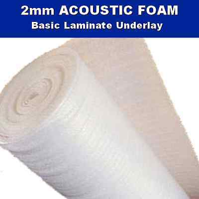 ACOUSTIC White Foam Laminate Engineered Wood Floor Underlay 2mm Insulation Eco