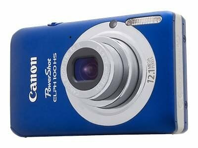 Brand New Canon PowerShot ELPH 100 HS Digital Camera - Blue Color USA Model