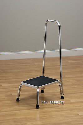 Kitchen Stepping Foot Step Stool w/ Handle Grab Bar - 250