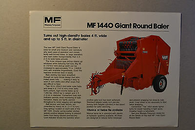 Mf1440 Round Baler Operators Mannual Business, Office & Industrial