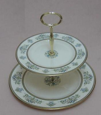 "Minton ""Henley"" TWO TIER CAKE STAND"