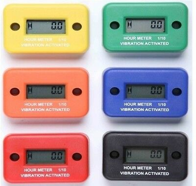 VIBRATION hour meter for Motors ATV Snowmobile Boat Stroke Gas Engine Generator