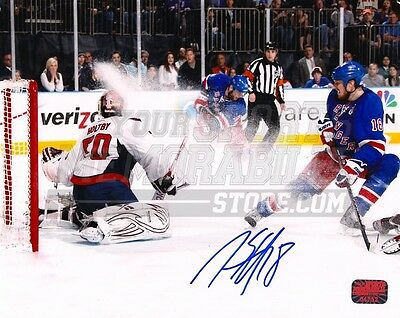 Marc Staal New York Rangers Signed 8x10 Snow Spray vs Washington Capitals Holtby