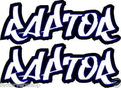 Raptor 350 600 660 700 Rear Fender Graphics Decals Stickers ATV QUAD Yamaha