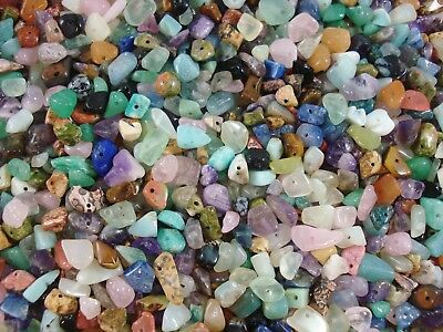 Gemstone Chips 500g Mix Bulk Pack 2000pc Beads Jewellery Necklace FREE POSTAGE