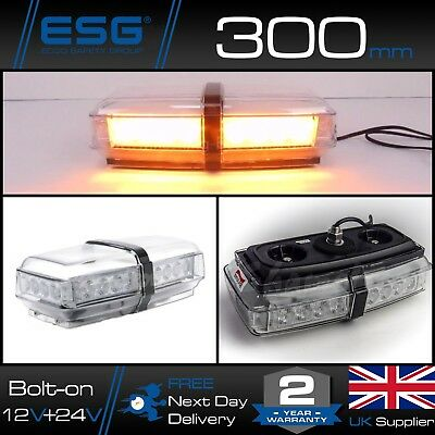 Britax A101 LED Amber Mini Single Bolt Light Bar 12v / 24v Strobe Beacon