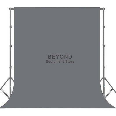 10X20ft Photography Gray Backdrop Solid Grey Muslin Photo Studio Background