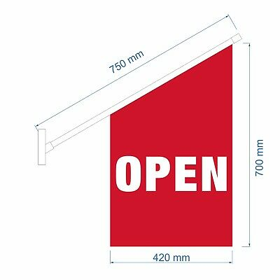 Wall OPEN Flag Kit / End Sign Flag Set / Wall Mount OPEN Flag /  - Ship Today!