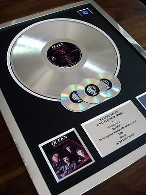 Queen Greatest Hits Lp Multi Platinum Disc Record Award Album