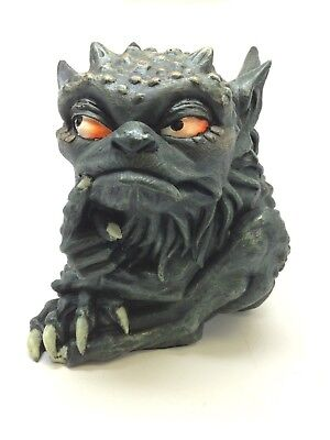 Large Toad Gargoyle Statue Cunning Scheming Figurine Handpainted Decor Grotesque