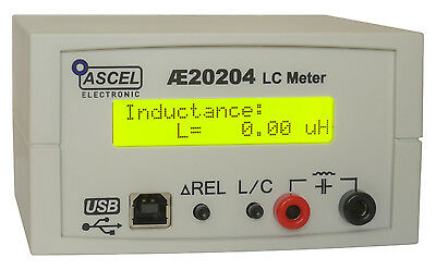AE20204 High Precision LC Meter Kit with RS232/USB, Machined Case, SMD Tweezers