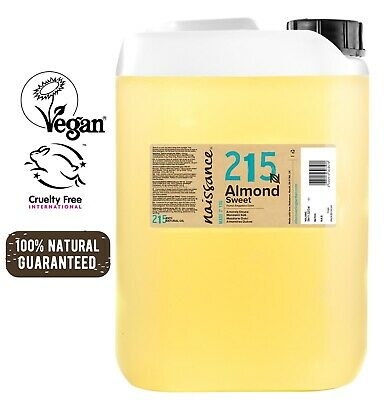 Naissance Sweet Almond Oil 5 Litres for Massage Skincare & Haircare 5L 10L 15L
