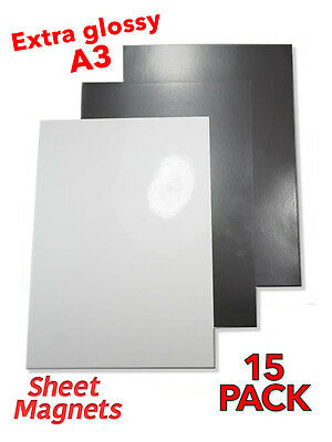A3 Sheet Magnets   HQ Gloss   15 Pack   Ref.59171