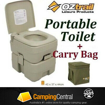 Oztrail Portable (20 Litre) Flush Camp Camping Outdoor Toilet + Carry  Bag