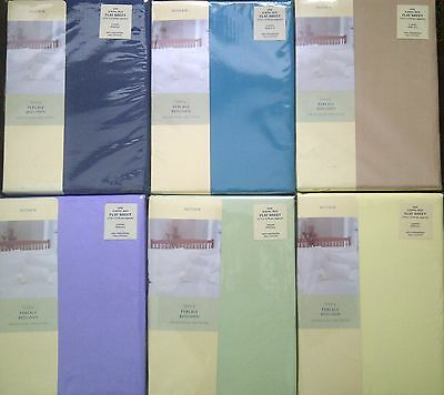Higher 180 T/c Percale Non Iron Superking Size Flat Sheets Choice Of 6 Colours
