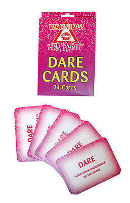 Hen Party Dare Cards Girls Fun Night Stag Game 24 Pack Wedding Game Bride Groom