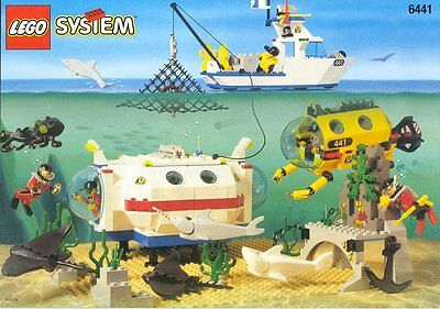 LEGO DIVERS 6441 NUOVO - Anno 1997 - Deep Reef Refuge - NEW / MISB