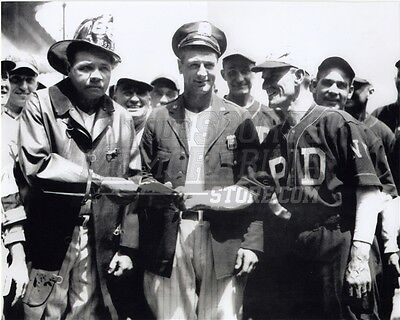 Babe Ruth Lou Gehrig DNY NYPD Police Fireman vintage  8x10 11x14 16x20 photo 109