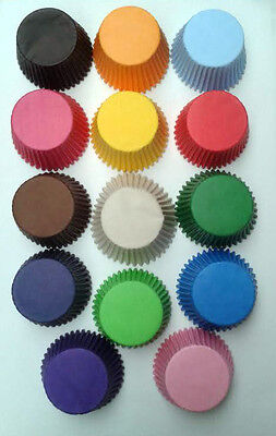 24 x Cupcake Bun Cases Choice Of Colours High Quality Paper Muffin Cake Case