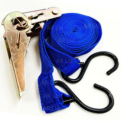 2 Tie Down Straps /Roof Rack Luggage Load Securing Straps with Ratchet Mechanism