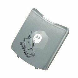 Genuine NEW OEM Motorola Razr V3c V3m Gray Door Back Cover SHN9874A SHN9351A