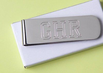1 Personalized money clip nick best man gift Christams gift free custom engraved