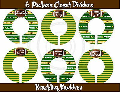 PRE-ASSEMBLED Custom Closet Dividers Green Bay Packers Inspired Football Baby