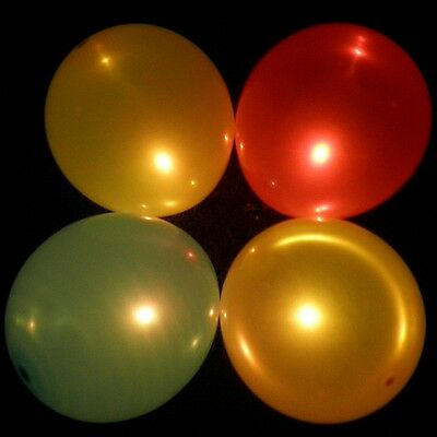 Colour changing LED balloons - pack of 5 multi colour light up flashing balloons