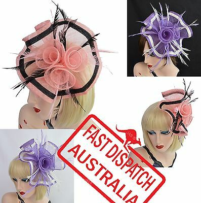 Spring Race Carnival Melbourne Cup Feather Fascinator Headband Hat Hatinator