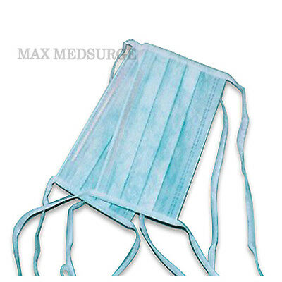 100 DISPOSABLE SURGICAL TIE ON face MASK Salon Dust Cleaning Flu Medical CE Mark