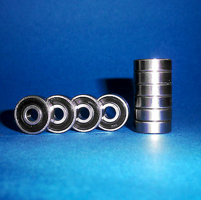 10 Kugellager 608 2RS / 8 x 22 x 7 mm