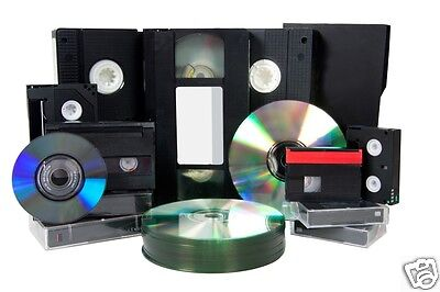2 X 8mm/Hi 8/Digital 8/VHS C/Mini DV TO DVD VIDEO DISK - 2 Tapes To DVD Transfer