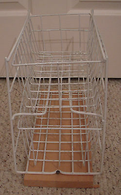 White Wire Cupboard two-Drawer Rack