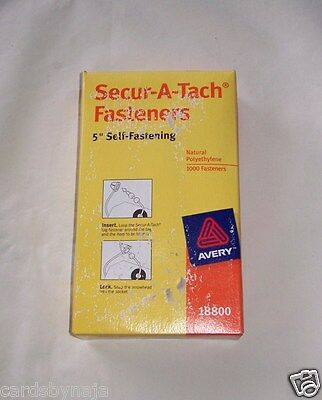 "Avery Secur-A-Tach 5"" Self-Fastening Fasteners #18800 New With Damaged Packaging"