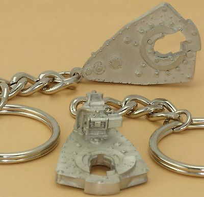 Oilfield Trash Drill bit Rig Power Tong Keychain Jewelry Roughneck oil sticker