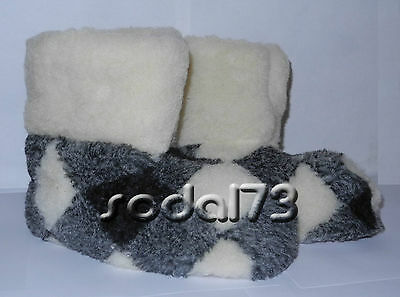 100% pure sheep Wool SLIPPERS, New genuine felt merino Boots, All Women's sizes