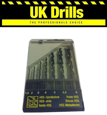 7Pc Piece Hss Drill Bit Set - Quality Drills Metric Sizes