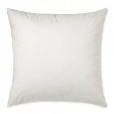 Set Of 2 White Square Pillow Inserts 400tc  Cotton Cover Multiple Size Available
