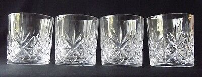 4 D'arques /durand Crystal Danube Old Fashioned Glasses 7 Oz. -Boxed Set
