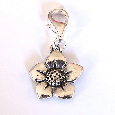 Flower Silver SP Clip on Charm