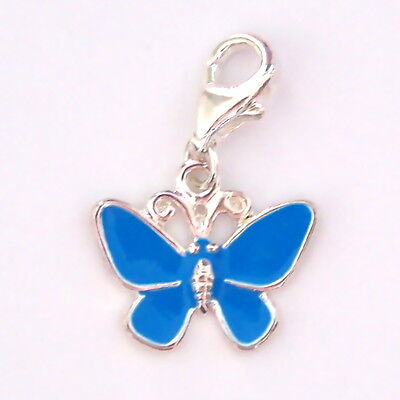 Blue Butterfly SP Clip on Charm