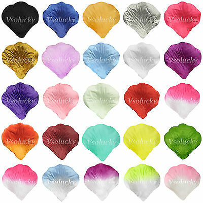 100pcs Silk Rose Artificial Petals Wedding Party Supply Decor Confetti Flower