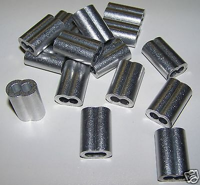 """3/16"""" Aluminum Cable Crimps/Sleeves (LOT OF 100) NEW"""