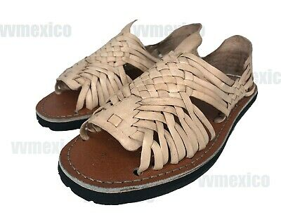 a743f296f51a Mens Leather Mexican Traditional Sandals Huarache With Tire Sole  all Sizes
