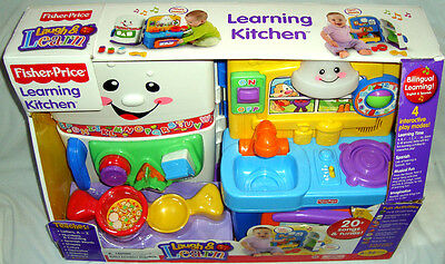 Fisher Price Learning Kitchen Baby Toy NIB ABCs Laugh & Learn Shapes Colors More