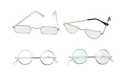 Old Man / Lady #half Moon Round Glasses Spectacles Fancy Dress Outfit Accessory