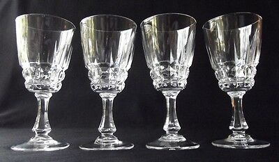 "Set Of 4 D'arques /durand Pompadour Cut Crystal Cordial Liqueur Glasses 4-1/4"" T"