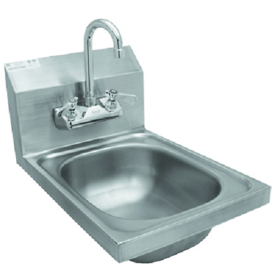 "Wall Mount Hand Sink Stainless Steel 12""x17"" w/ *No Lead Faucet*"